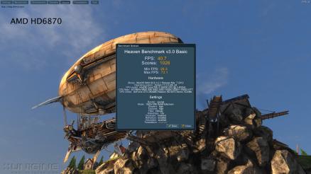 AMD HD6870 Unigine Heaven 3.0 40.7 FPS Maximum Settings
